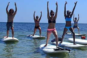 boot camp paddle boarding