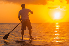 sunrise paddle boarding